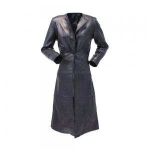 Leather Women Long Coat